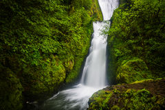 Bridal Veil Falls, in the Columbia River Gorge  Royalty Free Stock Image