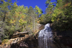 Bridal Veil Falls in NC in the Fall Royalty Free Stock Photography