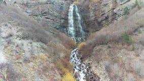 Bridal Veil Falls. A shot of Bridal Veil Falls in Provo Canyon, Utah stock video footage