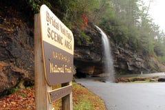 Bridal Veil Falls Sign Stock Photos