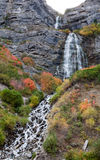 Bridal Veil Falls Utah in Autumn Colors Royalty Free Stock Photo