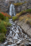 Bridal Veil Falls Utah in Autumn Colors Stock Photo