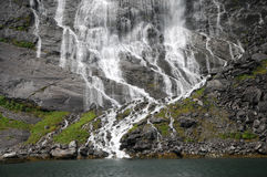 Bridal Veil waterfall on Geirangerfjord Stock Photography