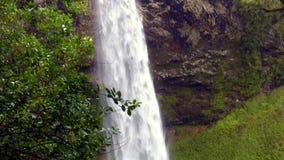 Bridal Veil Waterfall Waikato New Zealand stock footage