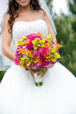 Bridal wedding bouquet Royalty Free Stock Photo