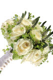 Bridal wedding bouquet. Made up of roses Royalty Free Stock Photography