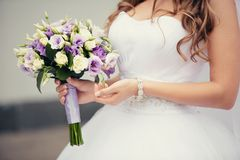 Bridal Wedding Bouquet Stock Photos