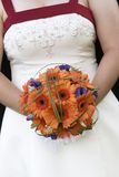 Bridal wedding bouquet of flowers. A very cool wedding bouquet of flowers Royalty Free Stock Photo