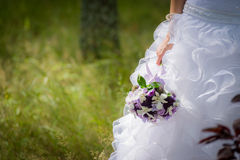 Bridal Wedding Bouquet outdoors Stock Image