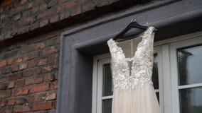 Bridal wedding dress. Fashion luxury gown stock video