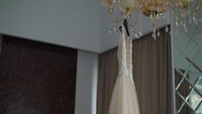 Bridal wedding dress. Fashion luxury gown stock video footage