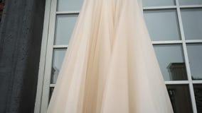 Bridal wedding dress. Fashion luxury gown stock footage