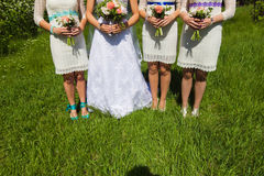 Bridal wedding flowers and brides bouquet. Bridal wedding flowers and brides Stock Photo