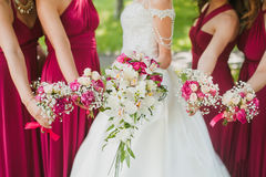 Bridal wedding flowers stock photography