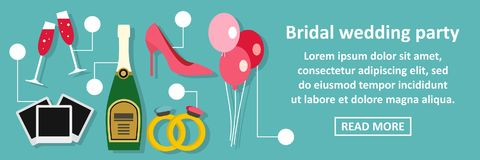 Bridal wedding party banner horizontal concept Stock Photography