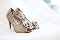 Bridal wedding shoes Royalty Free Stock Photography