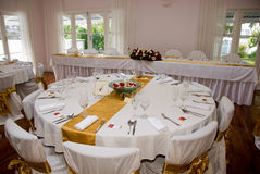 Bridal wedding Tables Royalty Free Stock Image