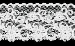 Bridal white floral lace band Royalty Free Stock Photography