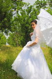 Bridal wink (summer bride portrait) Stock Image