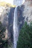 Bridalveil秋天,优胜美地国家公园,加利福尼亚,看见从基地 库存图片