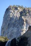 Bridalveil秋天,优胜美地国家公园,加利福尼亚,看见从基地 免版税图库摄影