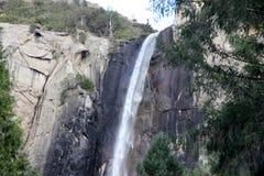 Bridalveil秋天,优胜美地国家公园,加利福尼亚 免版税库存图片