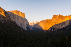 The Bridalveil Fall and the El Capitan Royalty Free Stock Images