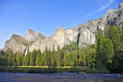 Bridalveil Fall and Merced River Stock Images