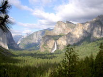 Bridalveil Falls - Yosemite. Bridalveil Falls in Yosemite National Park, CA: taken June 18, 2005 Royalty Free Stock Image