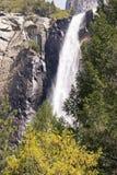 Bridalveil falls in Yosemite. Yosemite National Park, California, United States royalty free stock images