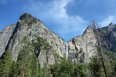 Bridalveil falls in Yosemite national Park Stock Photography