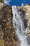 Bridalveil nedgångar i den Yosemite nationalparken Arkivbild