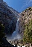 Bridalveil waterfall in Yosemite Valley royalty free stock image
