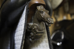 Briddles in Spanish horse riding school Stock Image