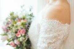 brideË ‡ s ślubny bukiet Fotografia Royalty Free