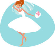 Bride. An illustrated of a bride Royalty Free Stock Photography