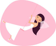 Bride. An illustrated of a bride Royalty Free Stock Photo