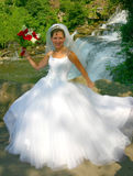 Bride. Pretty bride poses for the camera Royalty Free Stock Image