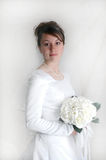Bride. Portrait holding flower bouquet Stock Images