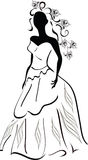 A Bride. Stylized illustration of a beautiful bride Stock Image