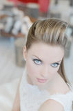 Bride. Stunning face of young lady with make up Stock Images