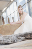 Bride. Stunning face bride looking straight Stock Photos