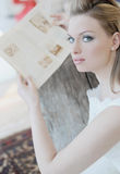 Bride. Lady holding a book in her hands Stock Photo