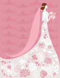 Bride. Wedding background with space for text Royalty Free Stock Images