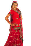 Bride. Asian Bride in beautiful Red dress stock image