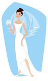 Bride. Is ready for ceremony stock illustration