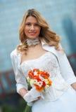 Bride. In wedding dress portrait Stock Image