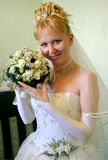 Bride 2. With bouquet royalty free stock photo