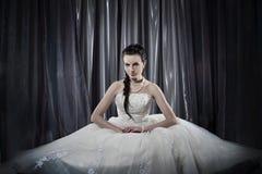 Bride. Beatiful Bride, girl indoor, wedding dress Royalty Free Stock Photos