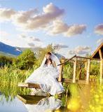Bride. Portrait of a beautiful young bride Royalty Free Stock Images